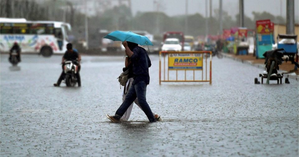 Heavy rain warning for various districts in Tamil Nadu